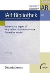 Patterns and impact of longitudinal measurement error for welfare receipt