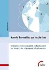 Von der Innovation zur Institution | Katrin Girgensohn |