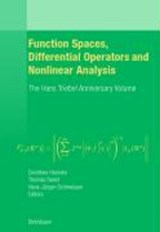 Function Spaces, Differential Operators and Nonlinear Analysis | auteur onbekend |