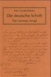 Die deutsche Schrift