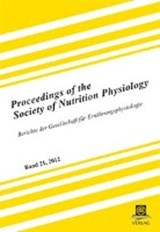 Proceedings of the Society of Nutrition Physiology Band 21, | auteur onbekend |