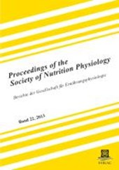 Proceedings of the Society of Nutrition Physiology Band