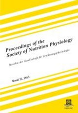 Proceedings of the Society of Nutrition Physiology Band |  |