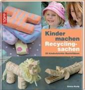 Kinder machen Recyclingsachen