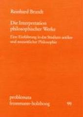 Die Interpretation philosophischer Werke