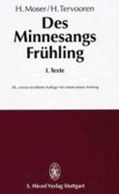 Des Minnesangs Frühling I. Texte