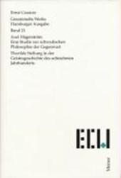Axel Hägerström. Eine Studie zur schwedischen Philosophie der Gegenwart / Thorilds Stellung in der Geistesgeschichte des 18. Jahrhunderts