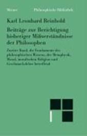 Beiträge zur Berichtigung bisheriger Mißverständnisse der Philosophen