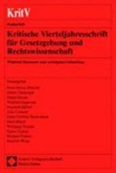 Kritische Vierteljahresschrift für Gesetzgebung und Rechtswissenschaft