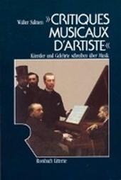 Critiques Musicaux d' Artiste