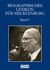 Biographisches Lexikon für Mecklenburg Band