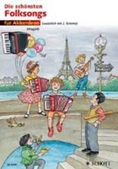 Die schönsten Folksongs. 1-2 Akkordeons. Spielpartitur