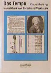 Das Tempo in der Musik von Barock und Vorklassik