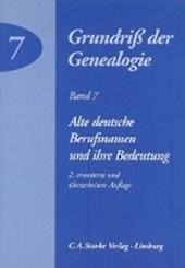 Alte deutsche Berufsnamen und ihre Bedeutung