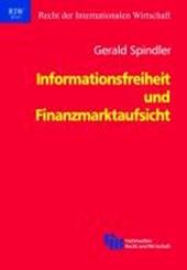 Informationsfreiheit und Finanzmarktaufsicht
