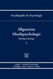 Allgemeine Musikpsychologie - Bd.