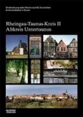 Kulturdenkmäler in Hessen. Rheingau-Taunus-Kreis 2. Altkreis Untertaunus