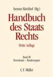 Demokratie - Bundesorgane. Band III