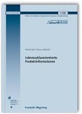 Lebenszyklusorientierte Produktinformationen. Abschlussbericht