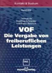 VOF - Die Vergabe von freiberuflichen Leistungen