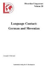 Language Contact: German and Slovenian | Donald F Reindl |