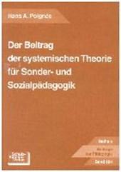 Der Beitrag der systematischen Theorie für Sonder- und Sozialpädagogik