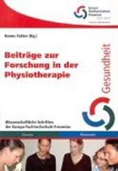 Beiträge zur Forschung in der Physiotherapie