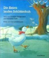 Die Enten laufen Schlittschuh