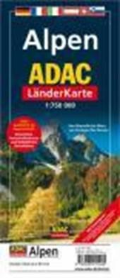 ADAC LänderKarte Alpen 1 : 750 000. Plano