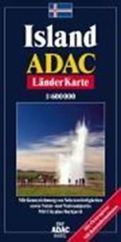 ADAC LänderKarte Island 1 :