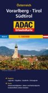 ADAC UrlaubsKarte Österreich 06: Vorarlberg, Tirol, Südtirol 1 :