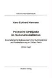 Politische Strafjustiz im Nationalsozialismus