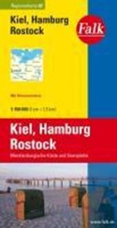 Falk Regionalkarte 02. Kiel, Hamburg, Rostock. 1 :