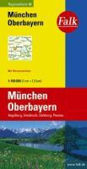 Falk Regionalkarte 16. München, Oberbayern. 1 :