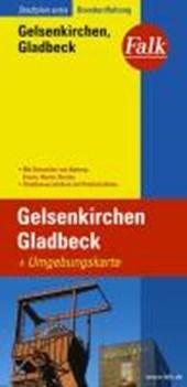 Falk Stadtplan Extra Standardfaltung Gelsenkirchen, Gladbeck mit Umgebungskarte