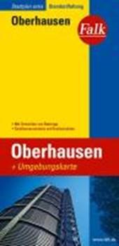Falk Stadtplan Extra Standardfaltung Oberhausen mit Ortsteilen von Bottrop 1 :