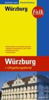 Falk Stadtplan Extra Standardfaltung Wuerzburg