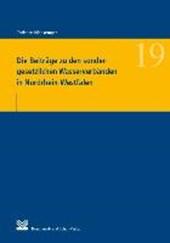 Die Beiträge zu den sondergesetzlichen Wasserverbänden in Nordrhein-Westfalen