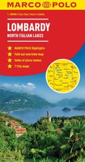 Lombardy Marco Polo Map (North Italian Lakes)