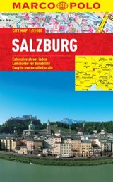 Salzburg Marco Polo Laminated City Map | Marco Polo Travel Publilshing |