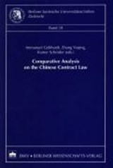 Comparative Analysis on the Chinese Contract Law | auteur onbekend |