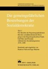 Die gemeingefährlichen Bestrebungen der Sozialdemokratie