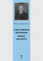 Anton Matthias Sprickmann Dichter und Jurist