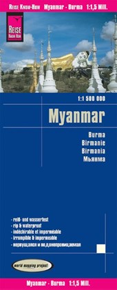 Reise Know-How Landkarte Myanmar 1 : 1.500.000