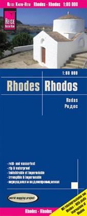 Reise Know-How Landkarte Rhodos / Rhodes (1:80.000)