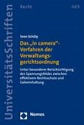 """Das """"in camera""""-Verfahren der Verwaltungsgerichtsordnung"""