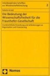 Die Bedeutung der Wissenschaftsfreiheit für die Fraunhofer-Gesellschaft