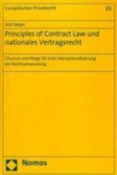 Principles of Contract Law und nationales Vertragsrecht