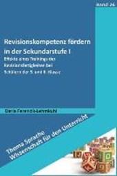 Revisionskompetenz fördern in der Sekundarstufe I