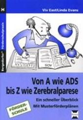 Von A wie ADS bis Z wie Zerebralparese